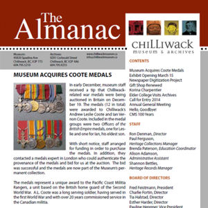 The Almanac Newsletter of the Chilliwack Museum and Archives