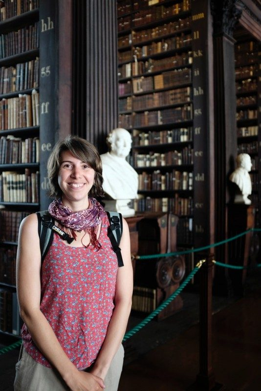 Curator Adrienne Rempel in the Old Library of Trinity College Dublin—home to the Book of Kells.