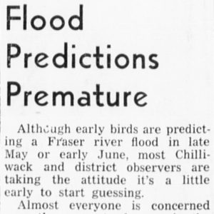 Chilliwack Progress Newspaper Clipping, April 21, 1948, page 5.